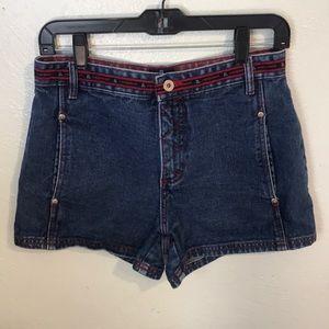 EQUIPMENT Vintage Style Blue Denim Shorts